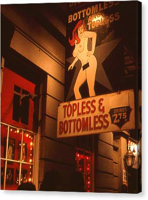 New Orleans Topless Bottomless Sexy Canvas Print