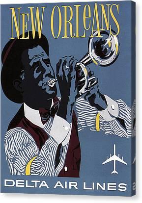 New Orleans Vintage Travel C. 1955 Canvas Print by Daniel Hagerman