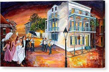 New Orleans Wedding Party Canvas Print by Diane Millsap
