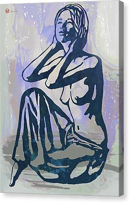 Dancing Canvas Print - New Pop Art Nude Poster   by Kim Wang
