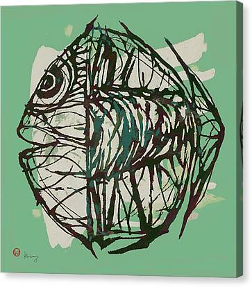 New Pop Art Tropical - New Fish Poster Canvas Print by Kim Wang