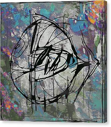 Popular Canvas Print - New Pop - Fish Art Poster by Kim Wang
