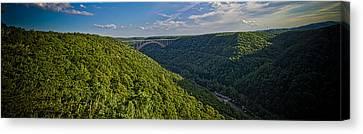 New River Panoramic Canvas Print