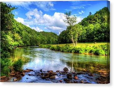 New River Summer Canvas Print by Dale R Carlson