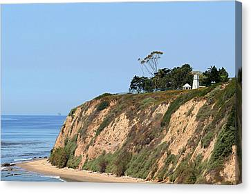 Lightstations Canvas Print - New Santa Barbara Lighthouse - Santa Barbara Ca by Christine Till
