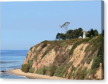 New Santa Barbara Lighthouse - Santa Barbara Ca Canvas Print by Christine Till
