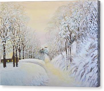 New Snow In Hunting Hills Canvas Print by Douglas Ann Slusher