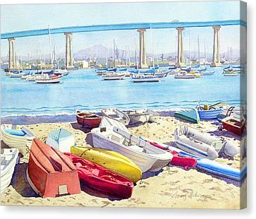 New Tidelands Park Coronado Canvas Print by Mary Helmreich