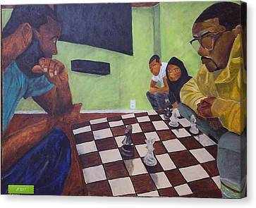 Canvas Print - A Game Of Chess by Jerel Ferguson