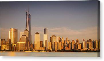 New World Trade Memorial Center And New York City Skyline Panorama Canvas Print