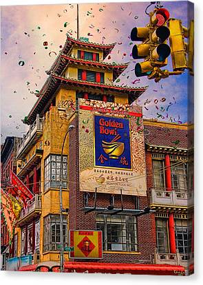 New Year In Chinatown Canvas Print by Chris Lord