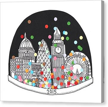 Christmas Cards Canvas Print - New Year by Isobel Barber