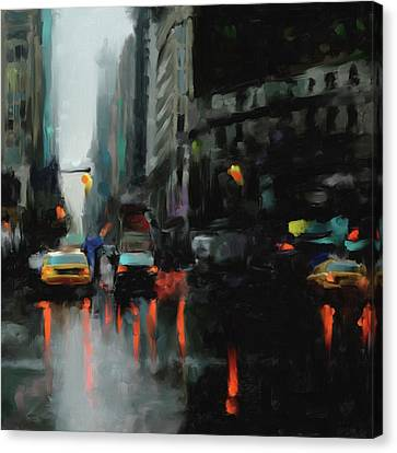 Newyork Canvas Print - New York 1 560 3 by Mawra Tahreem