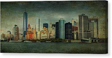 Canvas Print featuring the mixed media New York After Storm by Dan Haraga