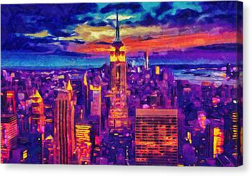 New York Canvas Print - New York Art - Empire State Building Cityscape Painting by Wall Art Prints