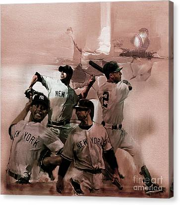 New York Baseball  Canvas Print by Gull G