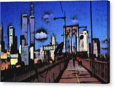 New York Blue - Modern Art Painting Canvas Print
