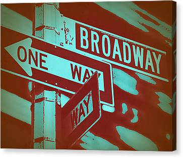 New York Broadway Sign Canvas Print