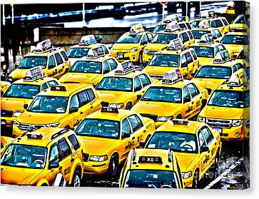 New York Cab Canvas Print by Alessandro Giorgi Art Photography