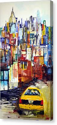 New York Cab Canvas Print