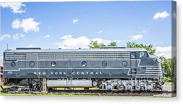 New York Central System Locomotive Vintage 3 Canvas Print by Edward Fielding