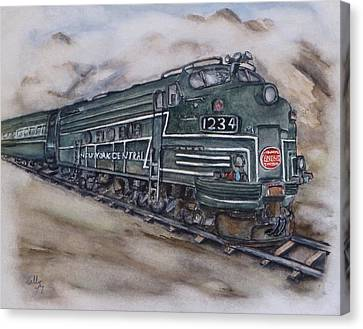New York Central Train Canvas Print by Kelly Mills