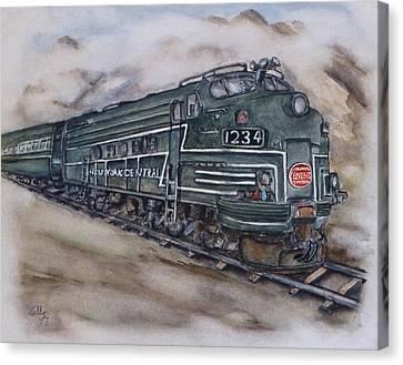 New York Central Train Canvas Print