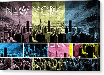 Times Square Canvas Print - New York City 333 by Victor Arriaga