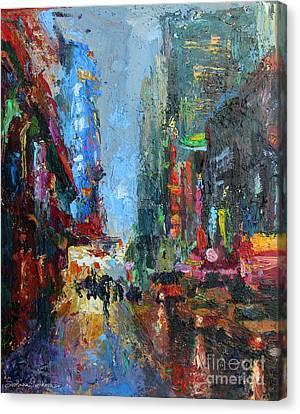 New York City 42nd Street Painting Canvas Print by Svetlana Novikova