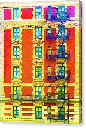 Apartment Canvas Print - New York City Apartment Building 3 by Tony Rubino