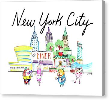 Nyc Canvas Print - New York City by Ashley Lucas