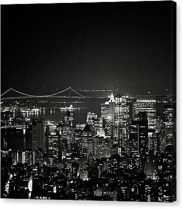 New York City At Night Canvas Print by Image - Natasha Maiolo