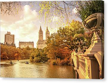 New York City Autumn Landscape Canvas Print by Vivienne Gucwa