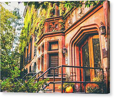 Brownstone Canvas Print - New York City Autumn by Vivienne Gucwa