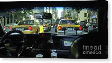 New York City Cab Ride Canvas Print