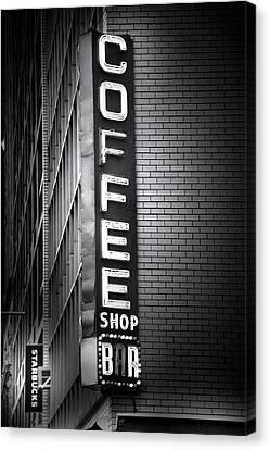 New York City Coffee House Canvas Print
