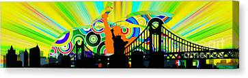 New York City Colors Canvas Print by Stefano Senise
