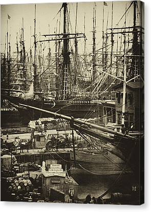 Paul Faust Canvas Print - New York City Docks - 1800s by Paul W Faust -  Impressions of Light