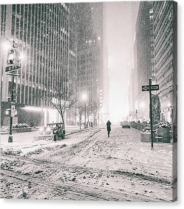 New York City - Empty Streets Canvas Print by Vivienne Gucwa