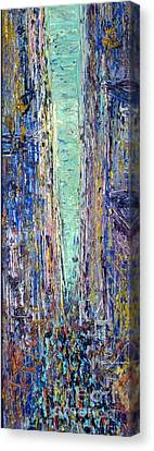 Pallet Knife Canvas Print - New York City by Frederick  Luff
