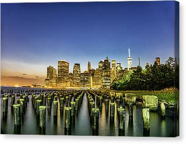 New York City From Brooklyn Canvas Print