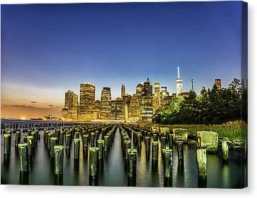 New York City From Brooklyn Canvas Print by Rafael Quirindongo