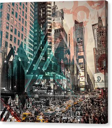 New York City Geometric Mix No. 4 Canvas Print by Melanie Viola