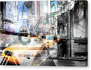 New York City Geometric Mix No. 9 Canvas Print by Melanie Viola