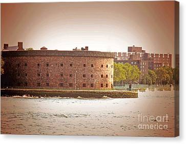 Staten Island Ferry Canvas Print - New York City - Governer's Island by Luther Fine Art