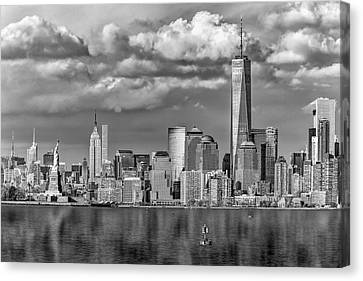 New York City Icons II Bw Canvas Print