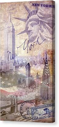 New York City Canvas Print by Jon Neidert