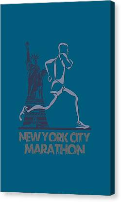 Athens Canvas Print - New York City Marathon3 by Joe Hamilton