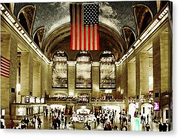 New York City Midtown Manhatten Grand Central Terminal 20160215 Canvas Print by Wingsdomain Art and Photography