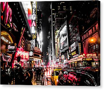 New York City Night II Canvas Print by Nicklas Gustafsson